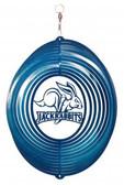 SDSU Jack Rabbits Circle Swirly Metal Wind Spinner