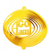 SDSU Jack Rabbits Mini Swirly Metal Wind Spinner