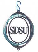 SDSU Jack Rabbits Tini Swirly Metal Wind Spinner