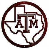 Texas A&M Aggies  24 Inch Scenic Art Wall Design
