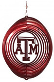 Texas A&M Aggies  Circle Swirly Metal Wind Spinner