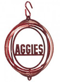 Texas A&M Aggies  Tini Swirly Metal Wind Spinner