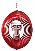 Texas Tech Red Raiders Circle Swirly Metal Wind Spinner