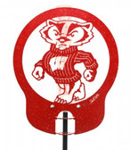 Wisconsin Badgers Rain Gauge