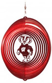 Wisconsin Badgers Circle Swirly Metal Wind Spinner