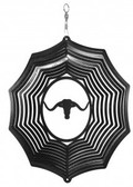 Cow - Longhorn Web Black Wind Spinner