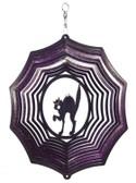 Scary Cat Web Purple Wind Spinner