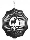 Bighorn Sheep Web Black Wind Spinner