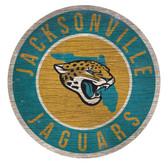 Jacksonville Jaguars Sign Wood 12 Inch Round State Design