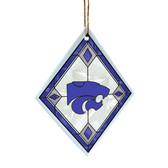 Kansas State Wildcats Art Glass Ornament