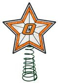 Oklahoma State Cowboys Art Glass Tree Topper