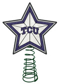 TCU Horned Frogs Art Glass Tree Topper