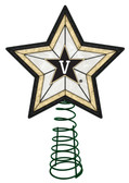 Vanderbilt Commodores Art Glass Tree Topper