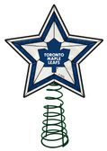 Toronto Maple Leafs Art Glass Tree Topper