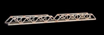 Truss Bridge, Double Span, 1 Lane  (Acrylic) - 285ROAD038-1