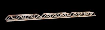 Truss Bridge, Triple Span, 1 Lane  (Acrylic) - 285ROAD039-1