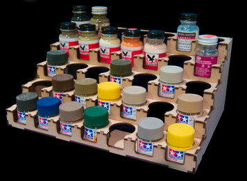 Paint Rack - 36mm Polly Scale / Tamiya 10ml