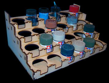 Paint Rack - 40.6mm Tamiya 23ml