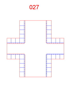 4 Way Crossing, Single Lane and 2 Lane - 285ROAD027