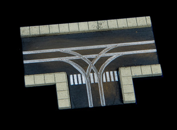 3 Way Intersection, 2 Lane Road - 285ROAD066
