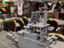 1/285th Scale USS Wasp LHD-1 By GameCraft Miniatures.  Superstructure detail