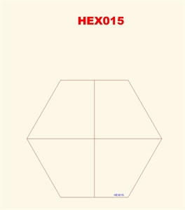 Quarter Hexes (4) - 3MMHEX015