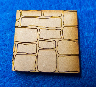 "1"" (25mm) Square Base With Random Stone"