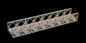 "Bailey Bridge, 8.45"" long (MDF) - 15MMDF270-1"