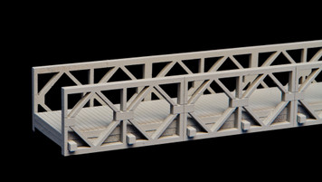 "Bailey Bridge, 16.9"" long (MDF) - 15MMDF270-2"