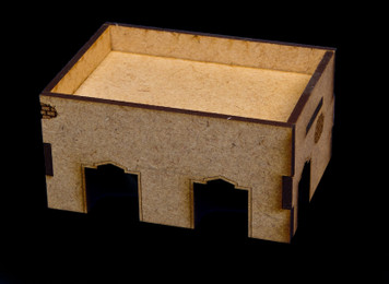 Middle East One Story Building With Removable Roof (MDF) - 15MMDF014-R