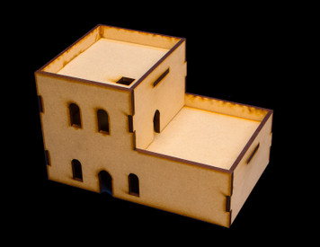Middle East Two Story Building (MDF) - 15MMDF121