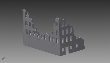 Ruined City Building (MDF) - 15MMDF252