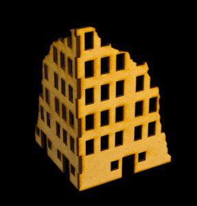 Ruined City Building 1 (MDF) - 20MMDF001