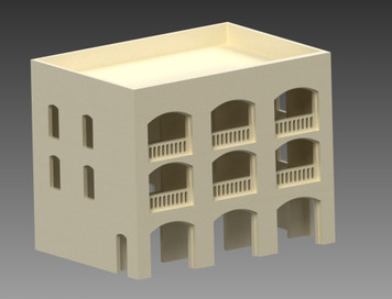 20mm Middle East Three Story Building - 20MMDF152