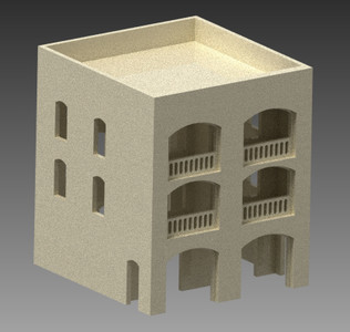 20mm Middle East Three Story Building - 20MMDF153