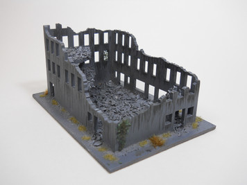 Ruined City Building (Wood) - 10MMDF008