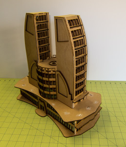 10mm Ultra Modern / Future City Building, Double Tower - 10MMDF501