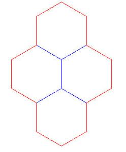 """Hex Bases, Quad Hex - (1.5"""")"""