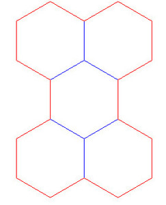 """Hex Bases, Array of Five Hex - (1.5"""")"""