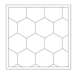 """City Tile, 1.5"""" Hexes (MDF) - EPICTILE007-6"""