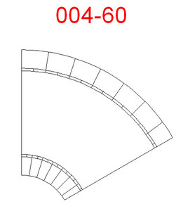 60 Degree Curve, 2 Lane Road - 285ROAD004-60