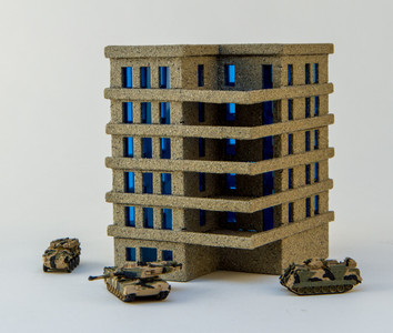 6mm Apartment Block (Acrylic) - 285ACR153