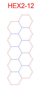 "Hex Bases, Array of 10 Hex - (2"")"