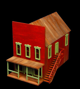 Old West Two Story Building with External Staircase - 28MWEST026