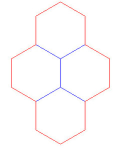 """Hex Bases, Quad Hex - (1.25"""")"""