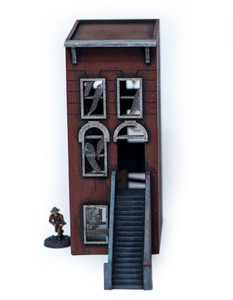 "28mm ""Brownstone"" Row House (MDF) - 28MMDF405"
