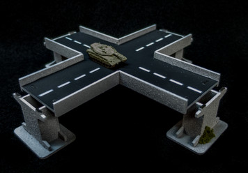 4 Way Intersection Roadway Section, 2 Lane - 285ROAD154-1