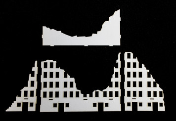 10mm Ruined City Building (Matboard) - 10MCSS003