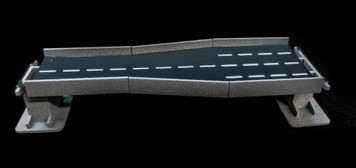"10"" Straight Transition Section, 2 Lane to 4 Lane - 10MROAD161-1"