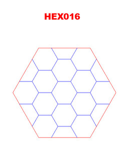 "Hex with 1.5"" Engraved Hexes - 285HEX016"